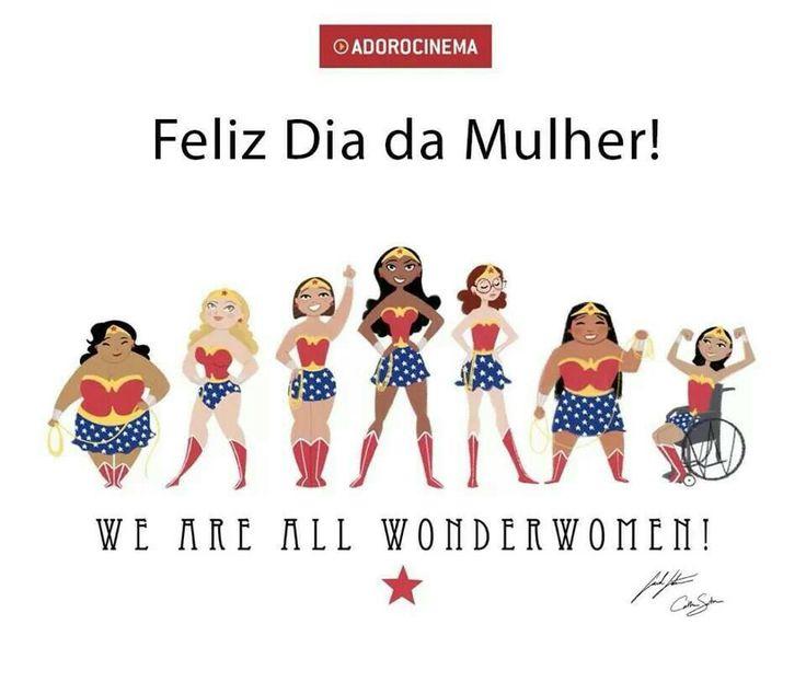 Feliz dia da mulher! | Cute! | Pinterest