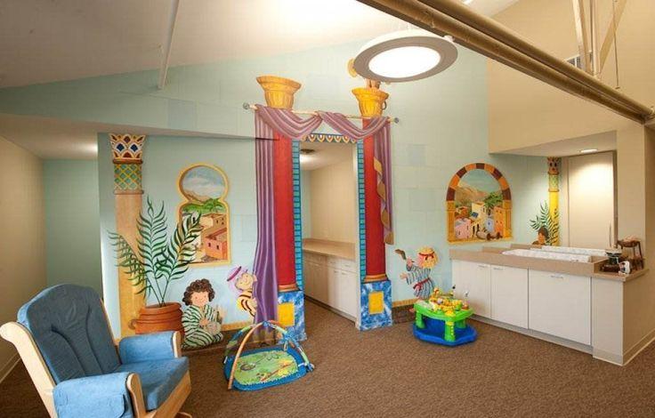 Church nursery decorating ideas decorating ideas for a for Church nursery mural ideas