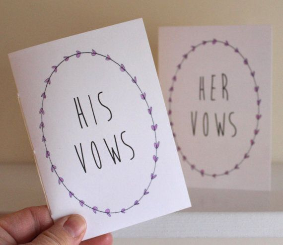 Wedding vow books with white covers his and her vow books