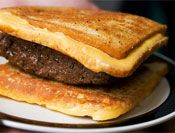 Hamburger Fatty Melt - A burger with two grilled cheese sandwiches as ...