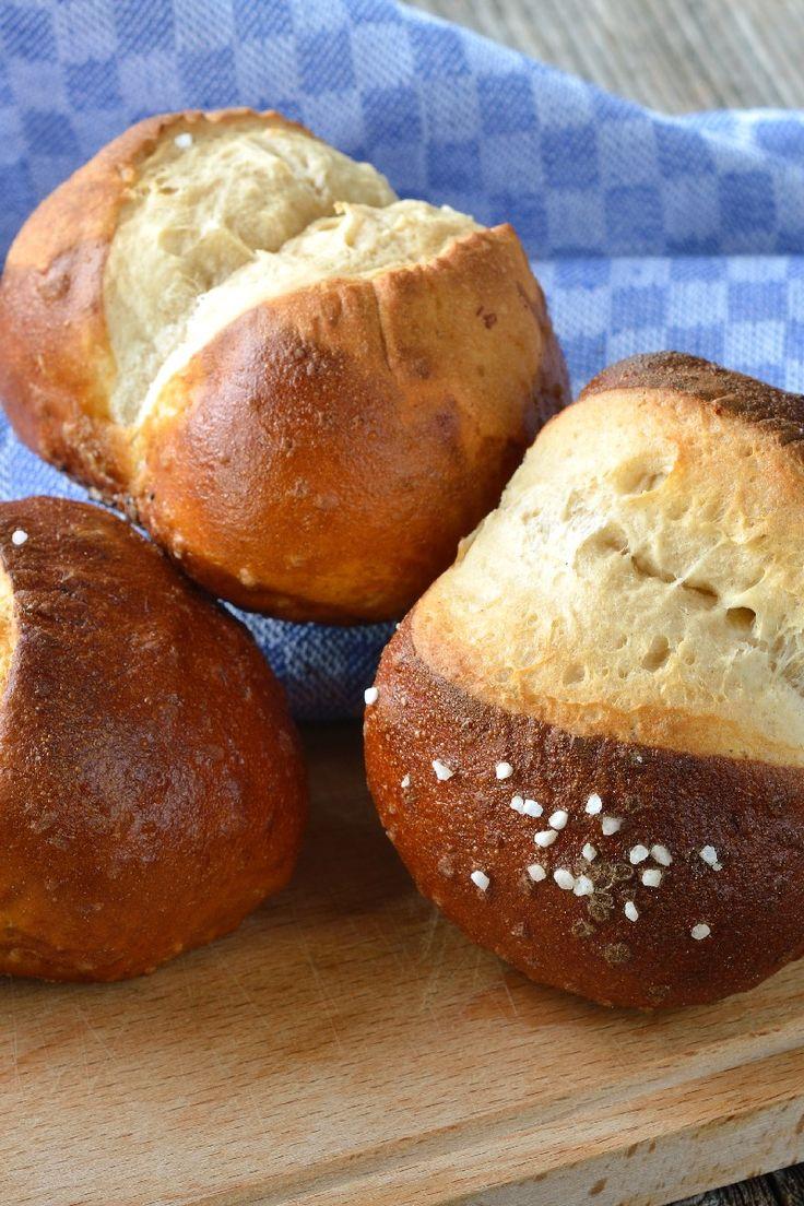 Homemade Bretzel Rolls Recipe - Bavarian Pretzel Sandwich Rolls