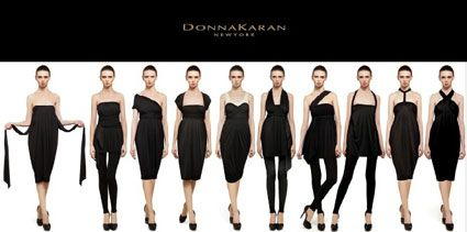 convertible clothing & Sustainable fashion - convertible-clothing that does double duty - Donna Karan's Infinity Dress Looks Endlessly Confusing To Put Together