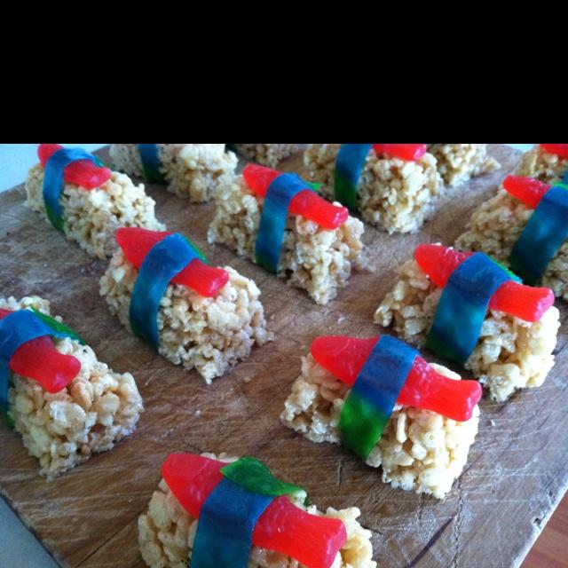 Rice Krispy sushi treats | Recipes | Pinterest