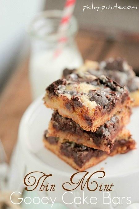 Thin Mint Gooey Cake Bars   Cookies & Bars   Pinterest