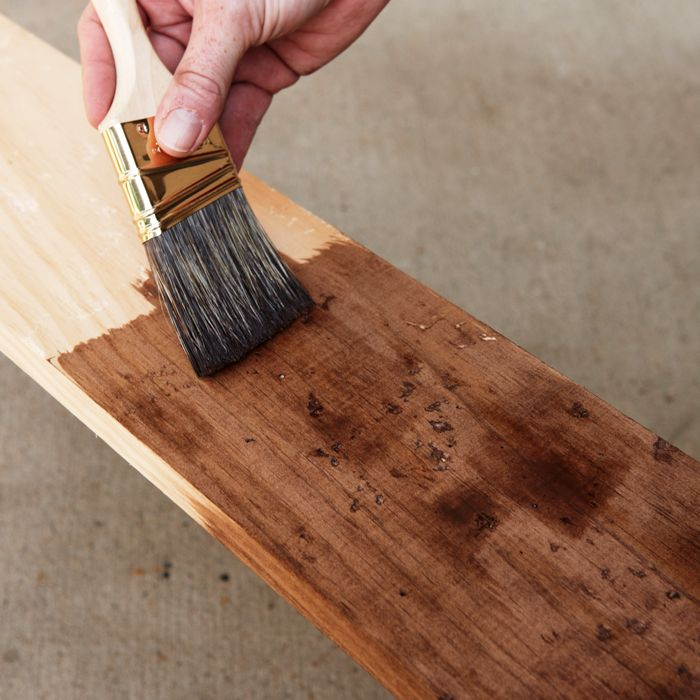 How to distress stained wood
