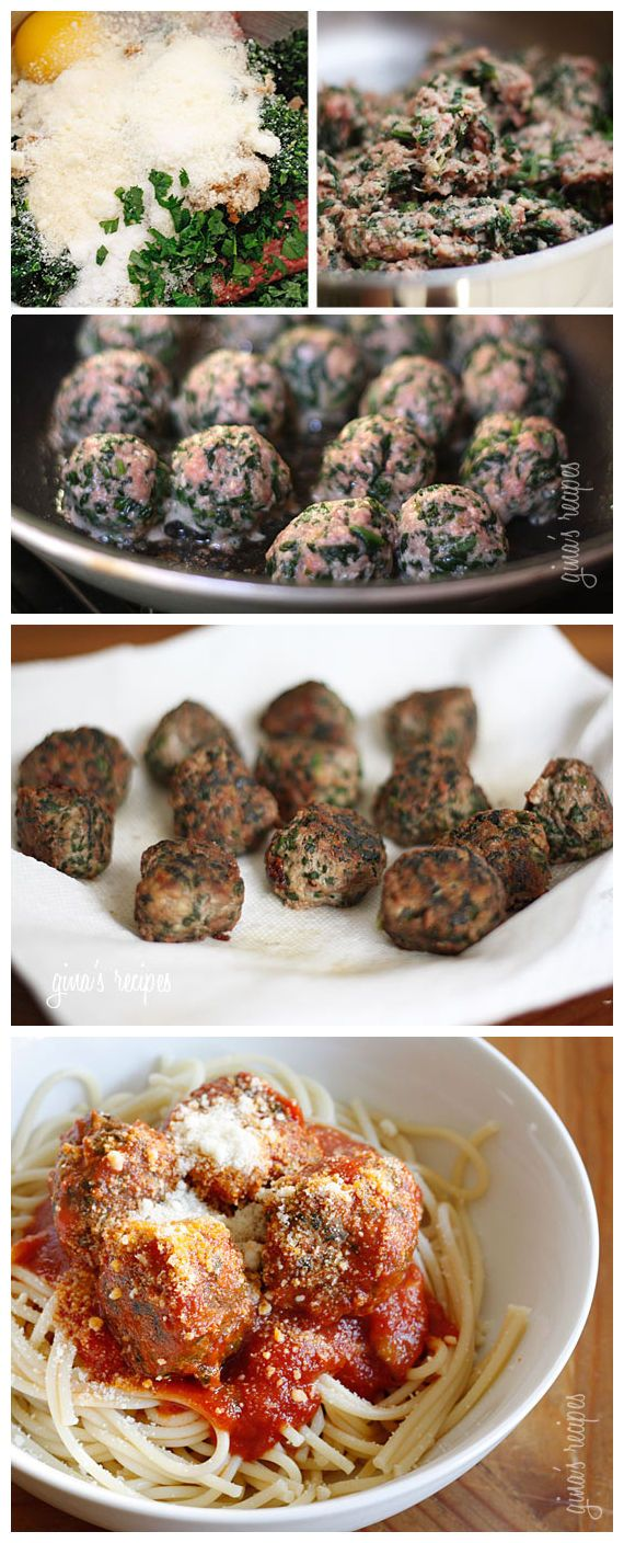 Skinny Italian Spinach Meatballs | FOOD AND DRINK | Pinterest