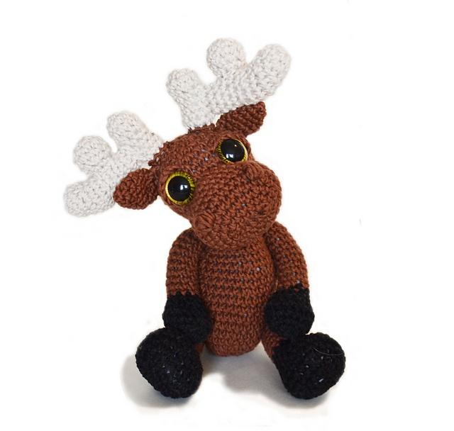 Amigurumi Moose : Amigurumi Moose Mostyn pattern by Kate E. Hancock