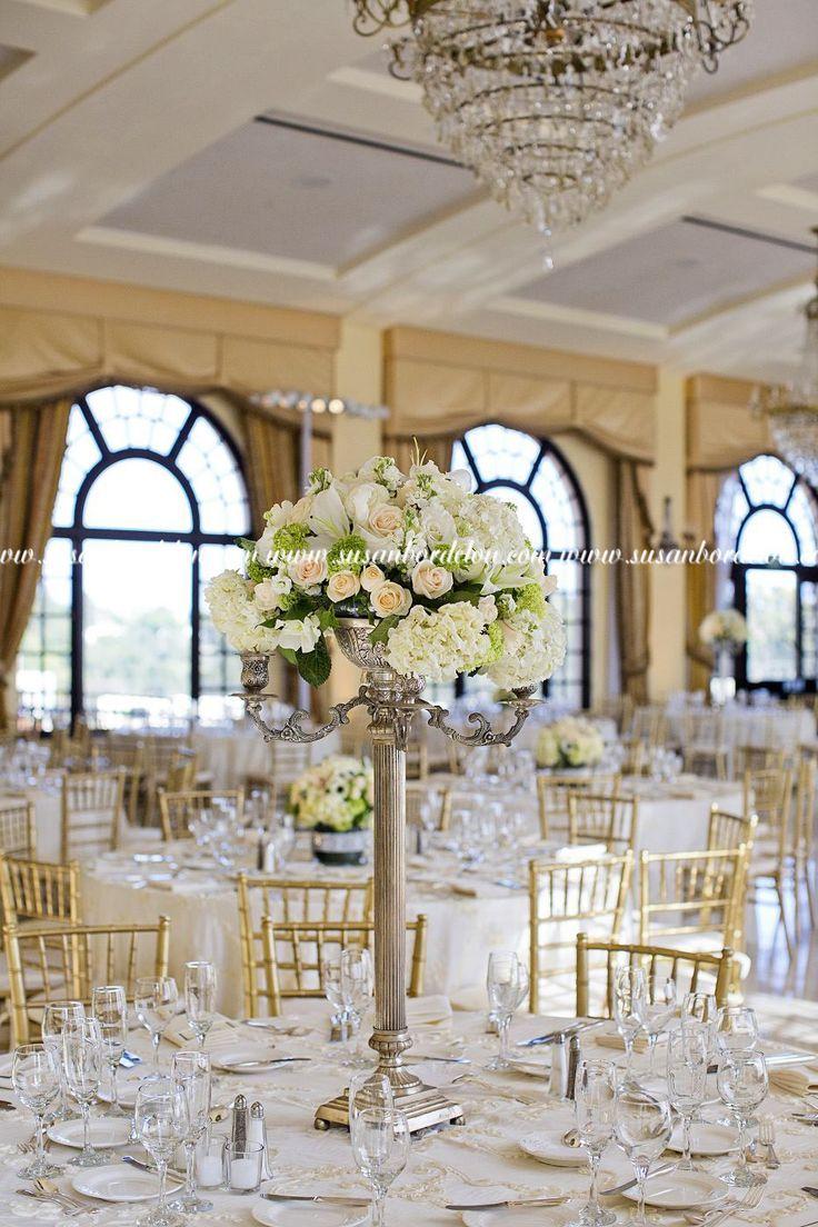 Tall candlestick esque centerpiece wedding pinterest