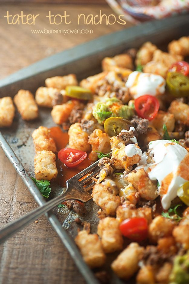 Totchos (Tater Tot Nachos)....You may find this at khaogali.com