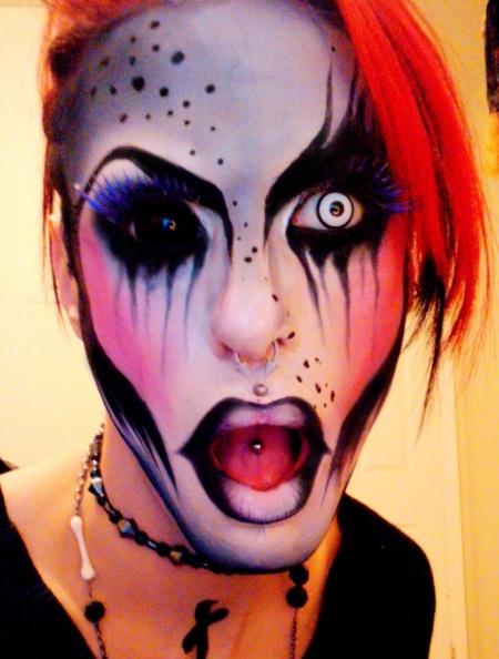 Crazy Makeup Look Halloween ideas Pinterest - Crazy Halloween Makeup