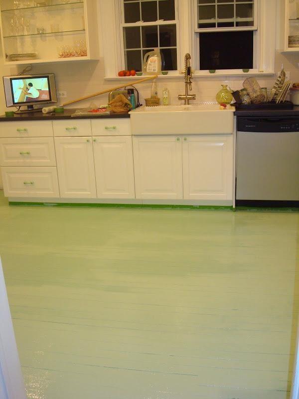 Diy Tutorial Diy Painting Crafts Diy Painted Kitchen Floor