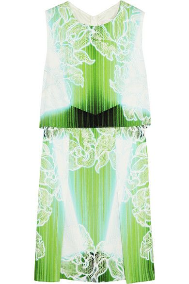 Shop now: Peter Pilotto MT Printed Stretch-silk Mini Dress