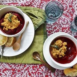beetroot amp maitake stew with turmeric quinoa punchfork