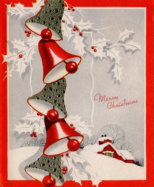 Vintage christmas bells holiday fun