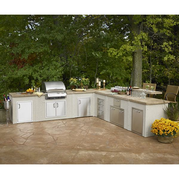Large L Shaped Outdoor Kitchen