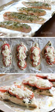 skinny chicken pesto bake 2 (16 oz total) boneless, skinless chicken ...