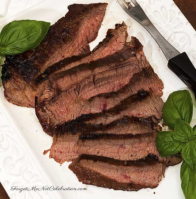 This Sugar Steak with Bourbon gest a kick from the red pepper flakes ...