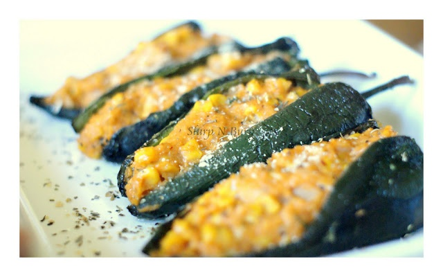 Polenta Stuffed Poblano Peppers | recipes! | Pinterest