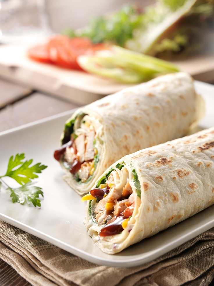 Chicken Wraps. An easy food to make for those hot summer days!