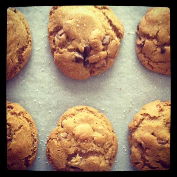 choc chip & sea salt cookies | Yummy | Pinterest
