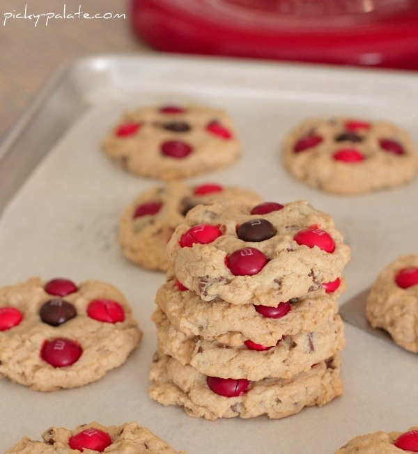 cinnamon m amp m oatmeal chocolate chip cookies from jenny flake picky ...