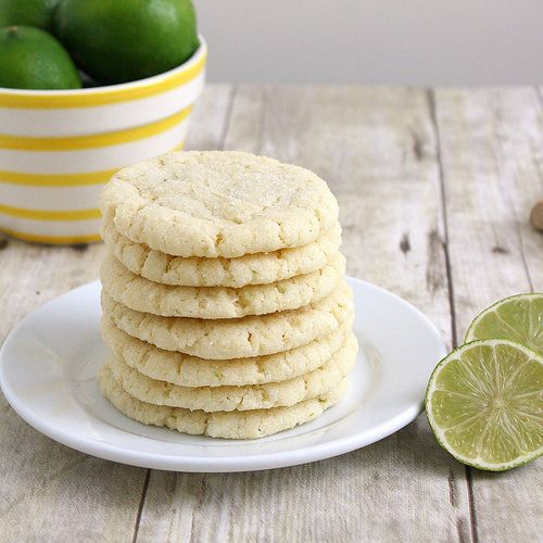 Coconut Lime sugar cookies. As usual, the dough was way too sticky ...