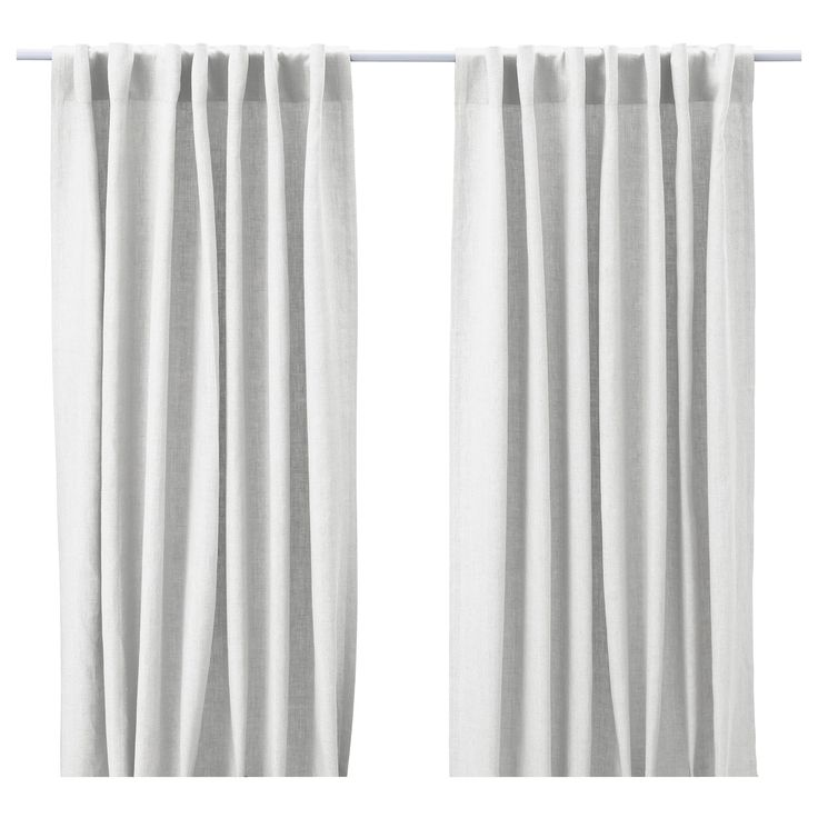 aina pair of curtains white ikea white linen curtins for living