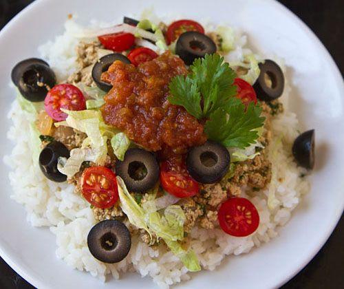 Vegetarian taco rice (tofu)   vegetarian recipes   Pinterest