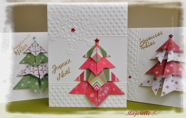 cartes de no l avec un sapin en origami 07 scrap no l. Black Bedroom Furniture Sets. Home Design Ideas