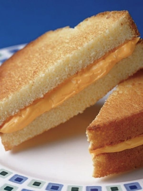 Make a grilled cheese with pound cake and frosting. | 21 Totally Sneaky Food Pranks For April Fools'Day...We thought this might be fun to post since it is April Fool's Day, and we started this pinterest on this day. This picture is from Buzzfeed.com
