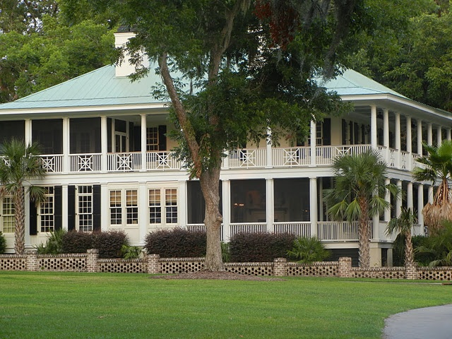 Porches houses pinterest for Beach house plans with wrap around porches