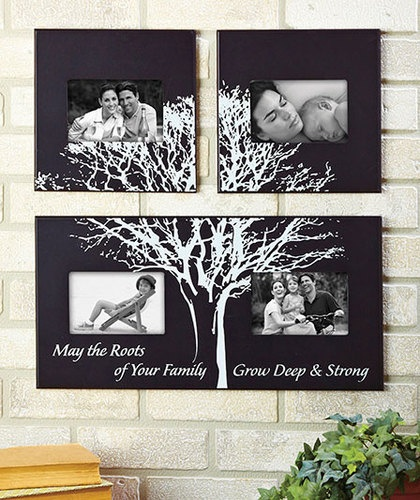 3 PC Family Tree Wall Photo Frame Display Art Home Decor Picture Collage Hanging | eBay