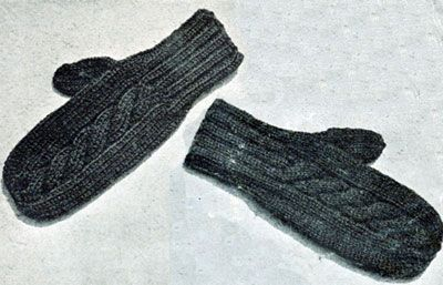 Free Knitted Mitten Pattern : Cable Mittens Free Knitting Patterns Things I want to knit Pint?