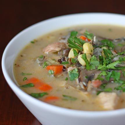 Turkey Chowder with Wild Rice, Crimini Mushrooms & Pancetta - a great ...