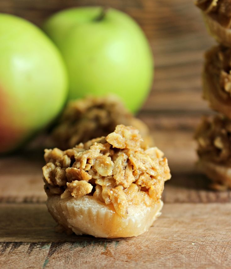 Miniature Bite-Sized Apple Crisp Bites