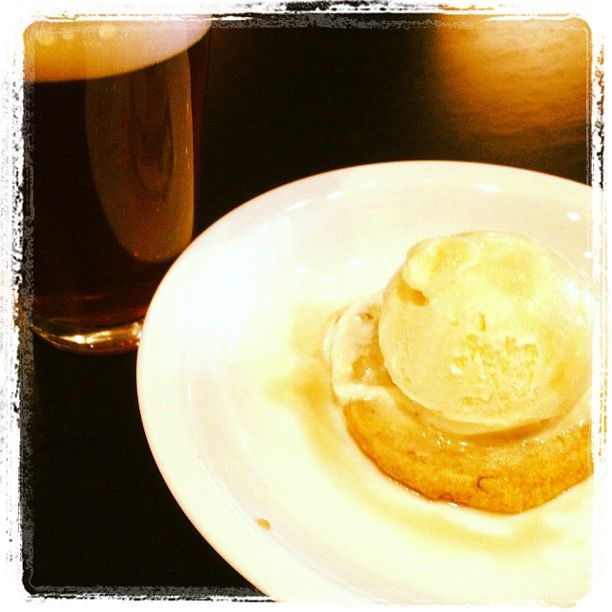 Dessert--frozen custard with a sour Wee Mac Reducation. Beer and Ice ...