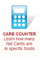 Download the Atkins Comprehensive Carbohydrate Counter and Acceptable Food Lists below to find the Net Carbs in many of your favorite foods.