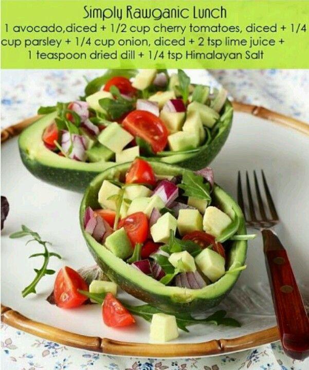 Twist on a avocado salad | Healthy living | Pinterest
