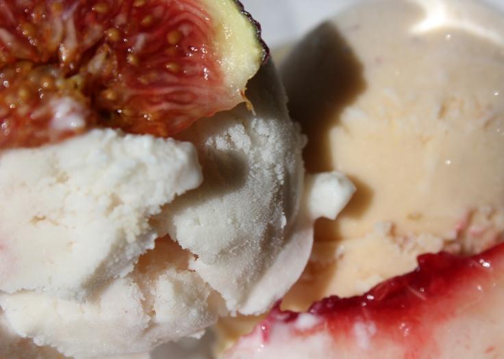 Easy Custardless Goat Cheese Fig Walnut Swirl Ice Cream Recipe
