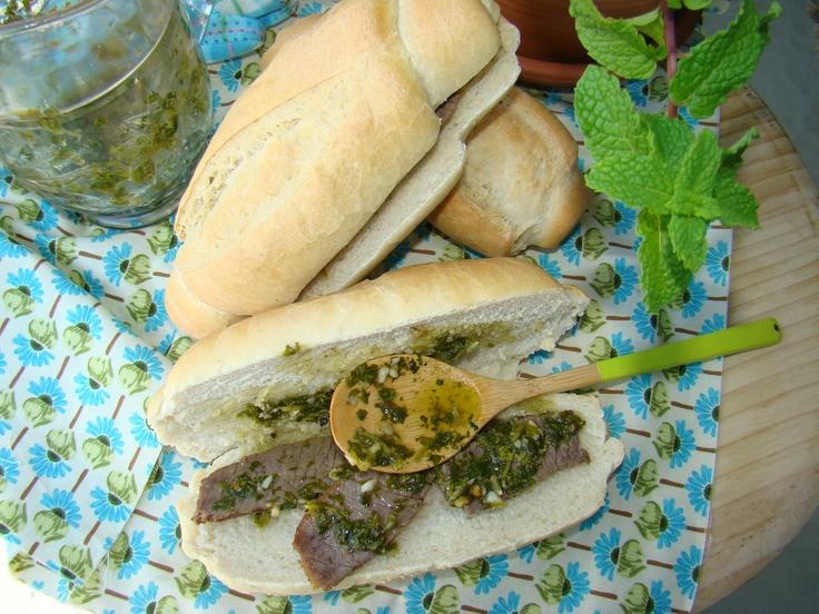 Steak And Chimichurri Sandwich | Sandra's Kitchen | Pinterest