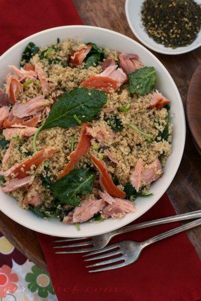 Quick Salmon & Couscous With Cilantro Vinaigrette Recipes — Dishmaps