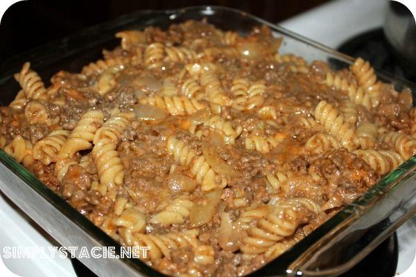 Cheesy Barbecue Beef Casserole | Recipe