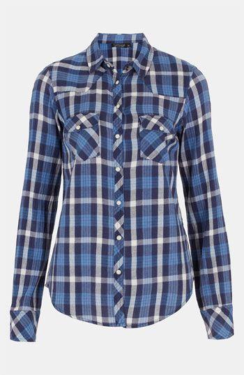 Topshop 'Atlanta' Plaid Shirt available at Nordstrom