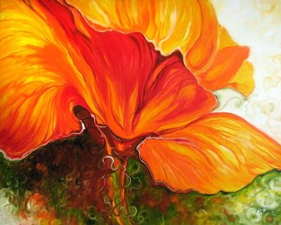 Golden Poppy Abstract by Marcia Baldwin