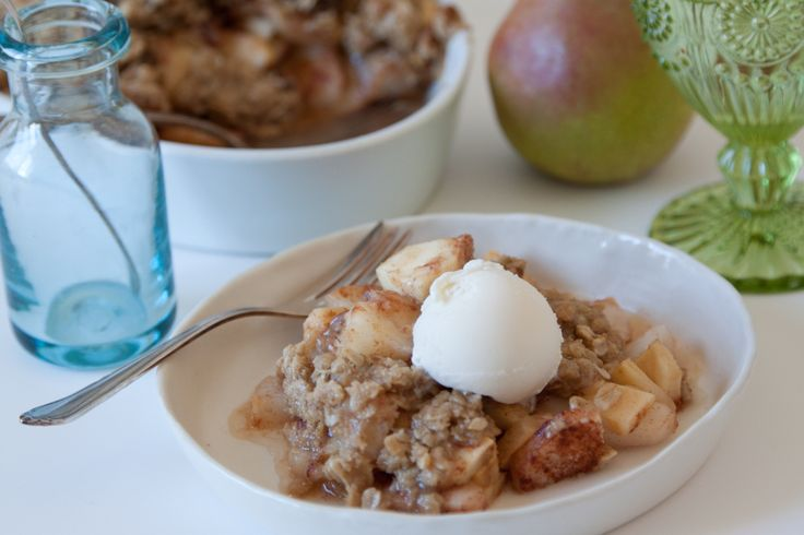 apple amp pear crisp with crystalized ginger what s gaby cooking