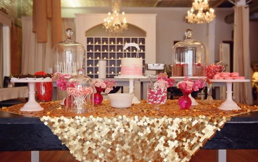 Pink Sweet 16 Table Decorations Photograph Centerpiec