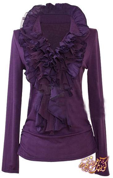 Ruffle Purple Blouse 121