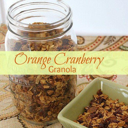 Cranberry Orange Granola Recipe   Good food   Pinterest
