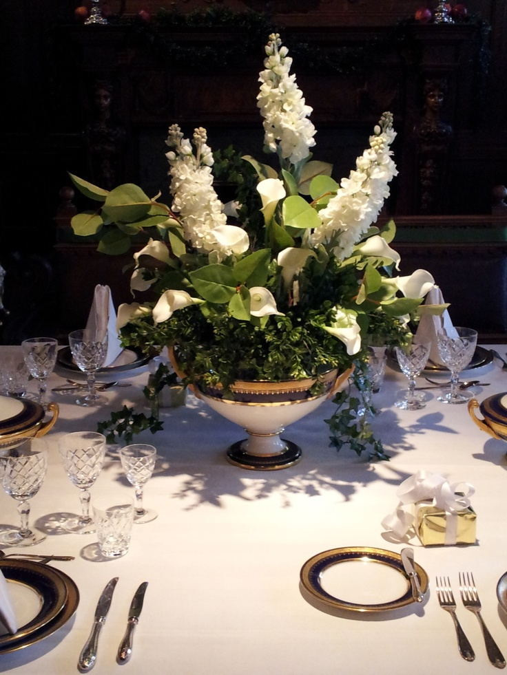 A gorgeous floral centerpiece at the Swedish Institute