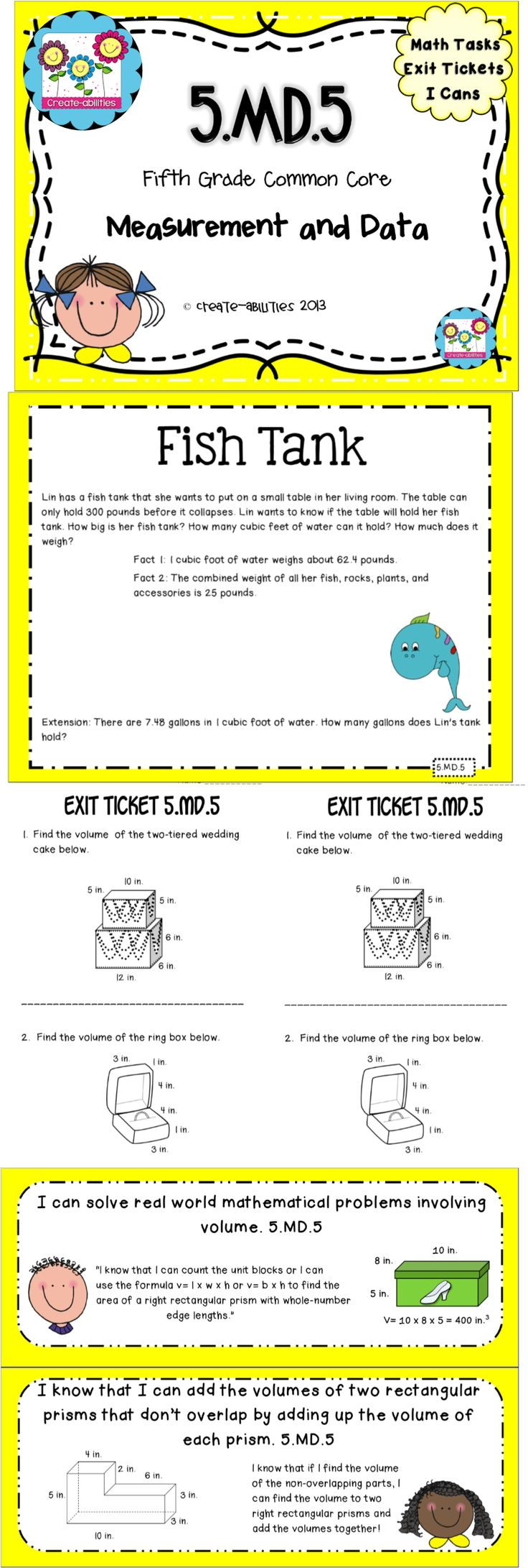 Volume worksheets grade 5 common core